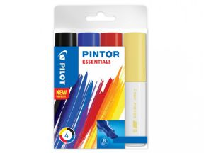 Essentials Colours Pack of Broad Pilot Pintor Paint Markers